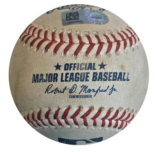 Photo of Game-Used Baseball from Pirates vs. Dodgers on 6/6/18 - Corey Dickerson Single