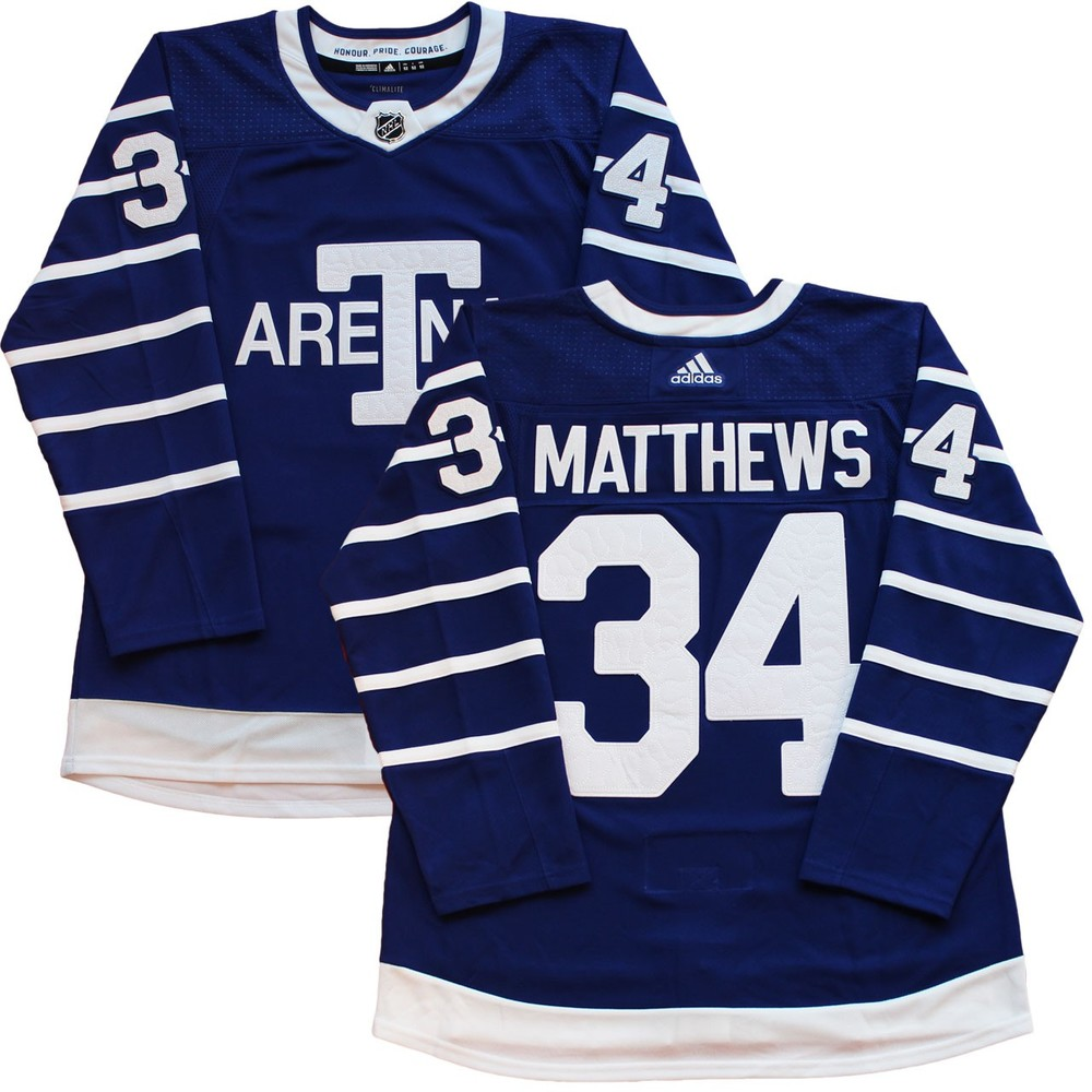 lower price with 090c1 ee361 Auston Matthews Jersey Unsigned Toronto Arenas Adidas Pro ...