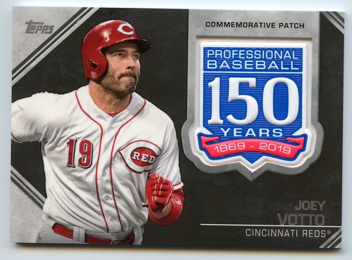 Photo of 2019 Topps 150th Anniversary Manufactured Patches #AMPJVO Joey Votto S2