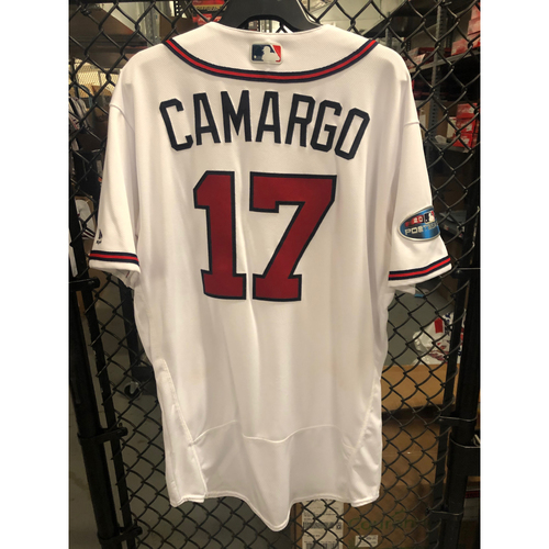 Photo of Johan Camargo Game Used NLDS Jersey - Worn 10/8/2018 Game 4