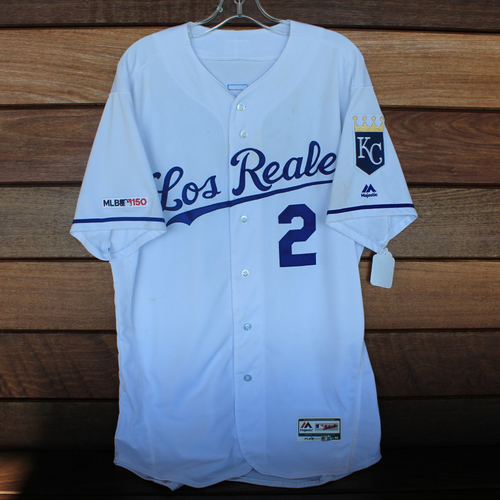 Photo of Game-Used Los Reales Jersey: Humberto Arteaga (Size 46 - MIN @ KC - 6/21/19)