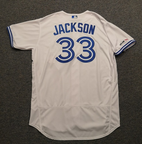 Photo of Authenticated Team Issued Jersey: #33 Edwin Jackson (2019 Season). Size 50