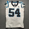 London Games - Panthers Shaq Thompson Game Used Jersey (10/13/2019) Size 42 With 25 Seasons Patch