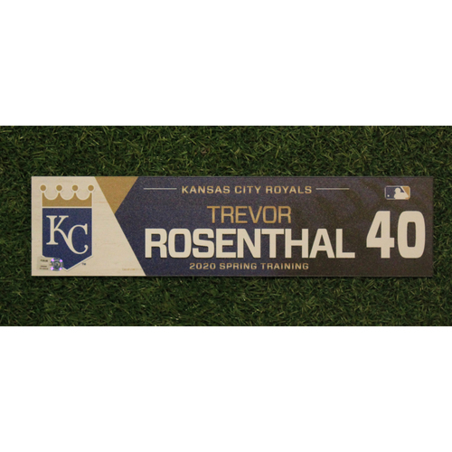 Photo of Game-Used Spring Training Locker Tag: Trevor Rosenthal #40