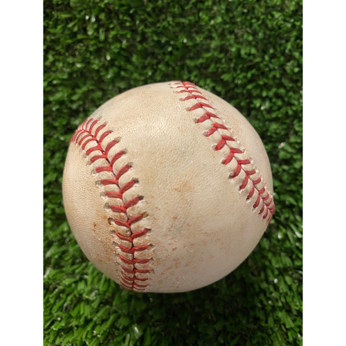Photo of Amed Rosario Game Used Hit Single Baseball - August 2, 2020