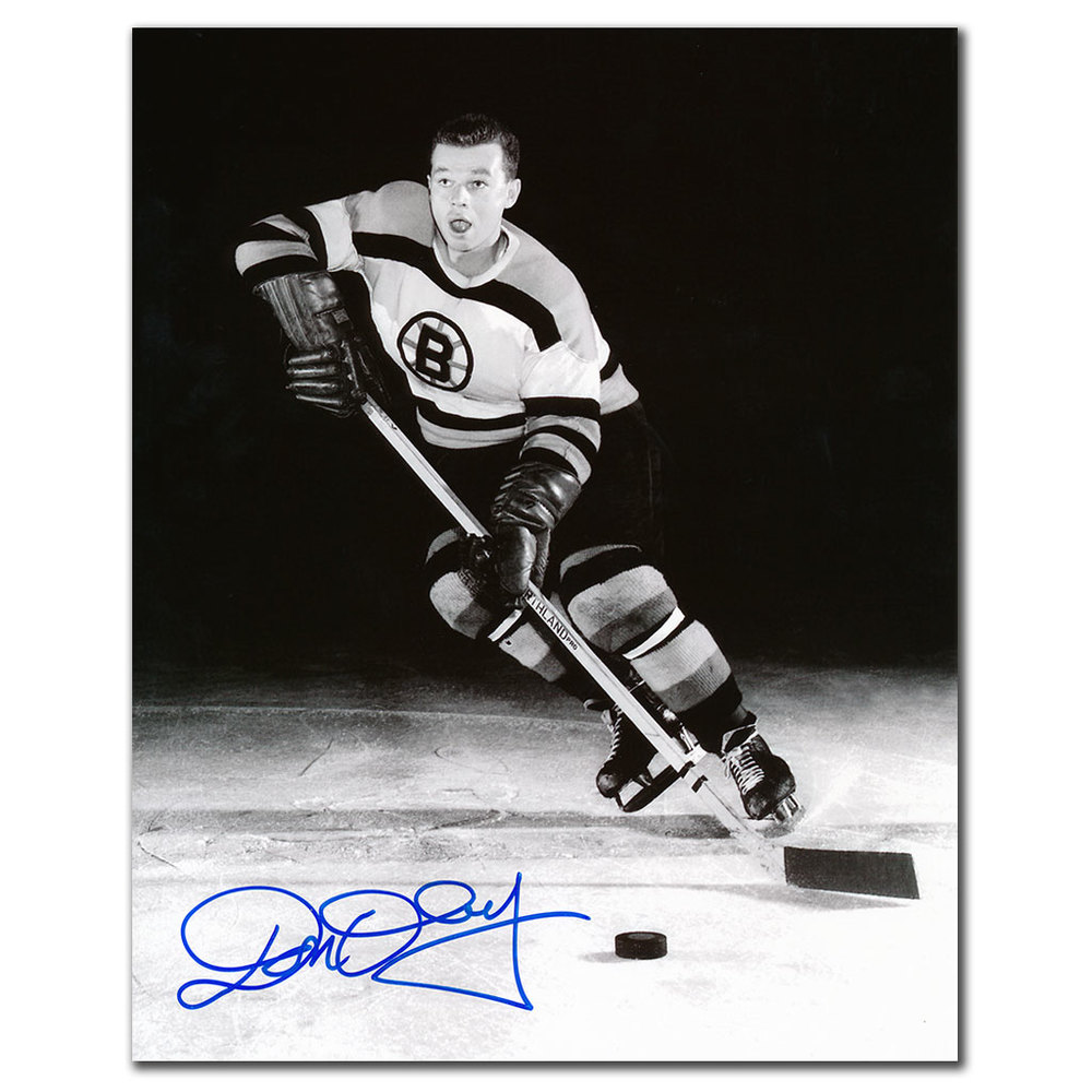 Don Cherry Boston Bruins ACTION Autographed 8x10
