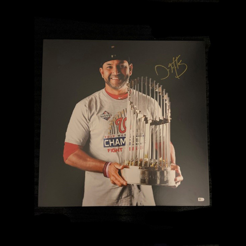 Photo of Washington Nationals Philanthropies Fall Ball Auction: Dave Martinez: World Series Celebration Autographed & Framed Photo