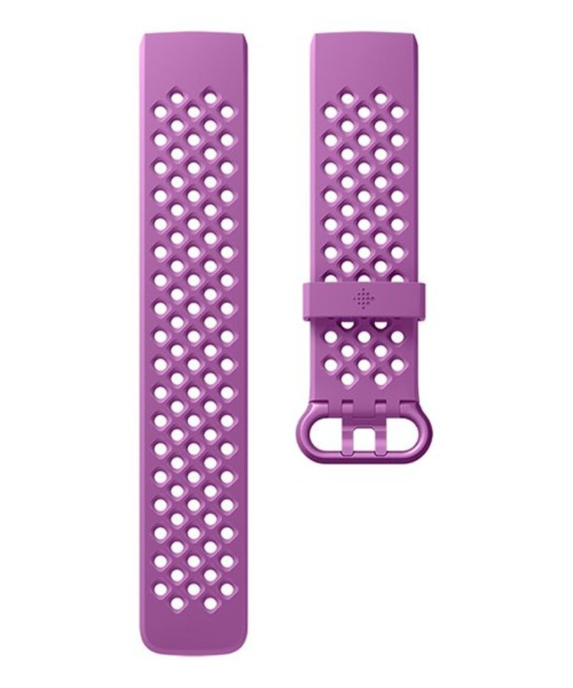 Photo of Fitbit Charge 3 Accessory Band, Official Fitbit Product, Sport, Berry, Large