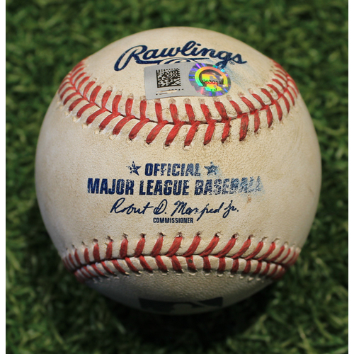 Photo of Game-Used Baseball: Lucas Giolito 470th Career Strikeout (CWS @ KC 9/5/20)
