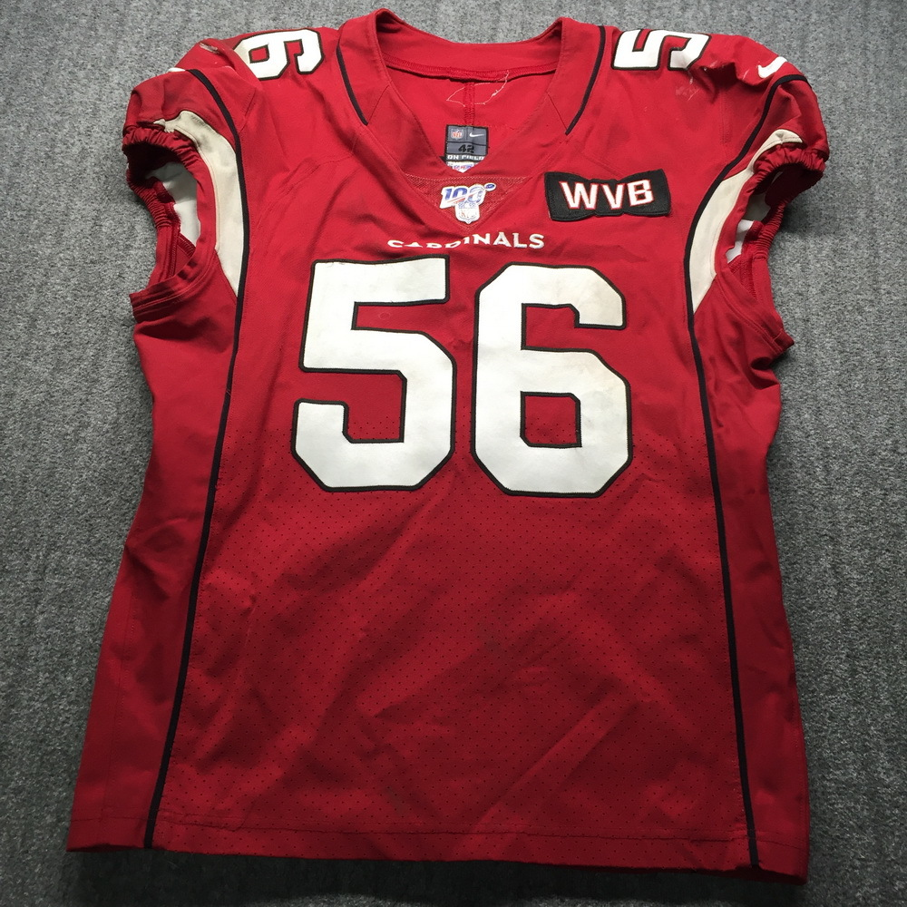 NFL Auction | Crucial Catch - Cardinals Terrell Suggs Game Used ...