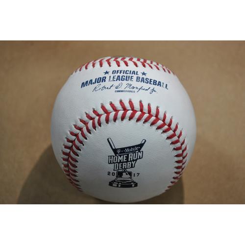 Photo of Game-Used Baseball - 2017 Home Run Derby (7/10/2017) - Gary Sanchez - Round 1, Home Run #14