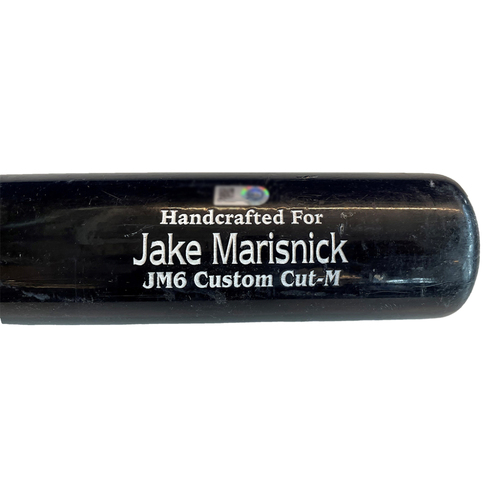 Photo of Jake Marisnick Game-Used Cracked Bat -- Wade Miley to Jake Marisnick, Ground Out, Top 6 -- Cubs at Reds -- 7/4/21