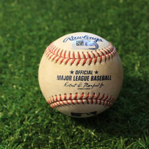 Photo of Game-Used Baseball: Adam Engel 224th Career Hit (CWS@KC 9/3/20)
