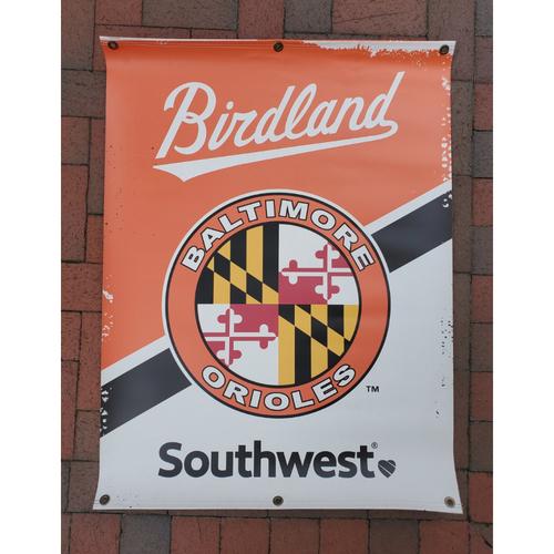 Photo of Orioles Street Banner - Maryland Flag Logo
