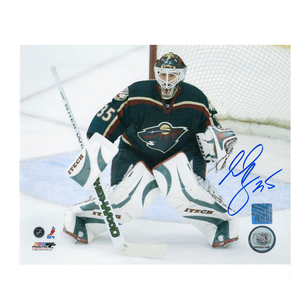 MANNY FERNANDEZ Signed Minnesota Wild 8 X 10 Photo - 70400