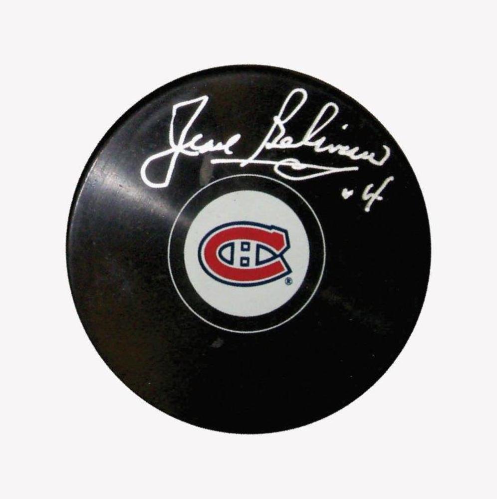 Jean Beliveau Signed Puck Canadiens