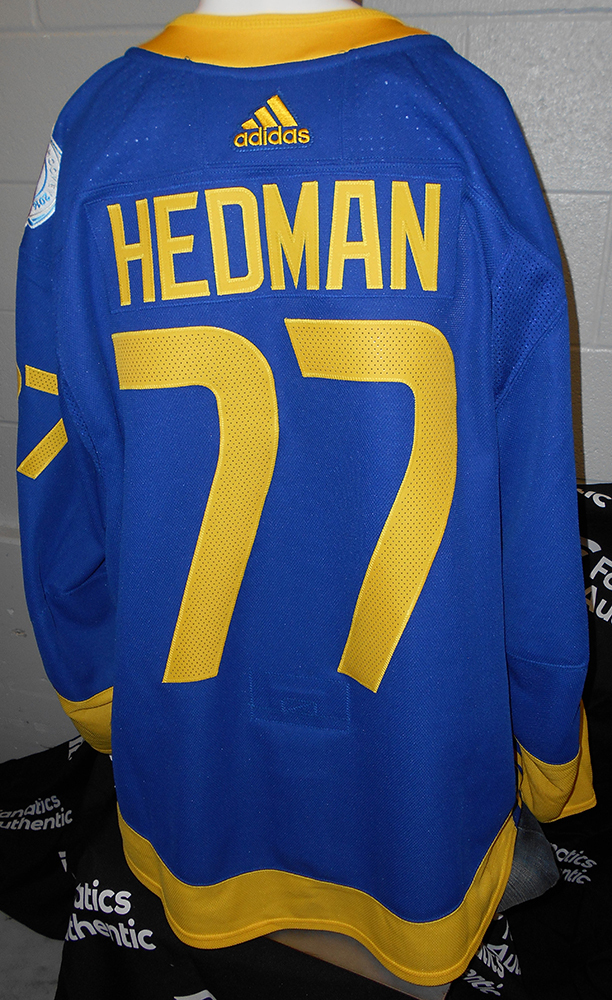 more photos 8bb7f d0c55 Victor Hedman Tampa Bay Lightning Game-Worn Home World Cup ...