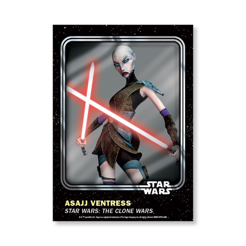 Asajj Ventress 2016 Star Wars Card Trader Base Poster - # to 99