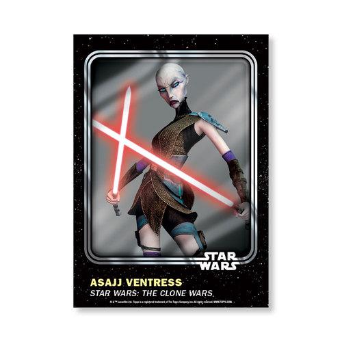 Asajj Ventress 2016 Star Wars Card Trader Base Poster - # to 99