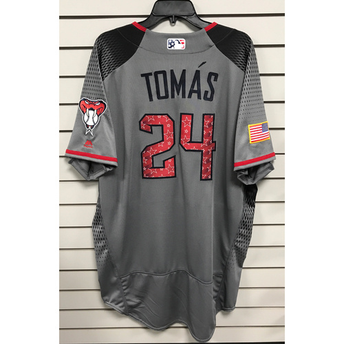 Yasmany Tomas Team-Issued Road 4th of July Jersey