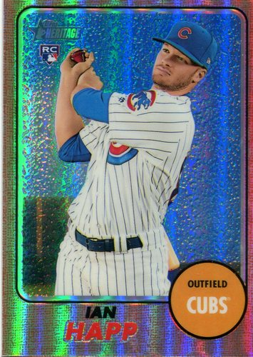 Photo of 2017 Topps Heritage Chrome Refractors 475/568 Ian Happ