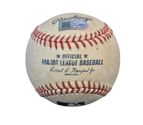 Photo of Game-Used Baseball from Pirates vs. Brewers on 6/8/15 - Ryan Braun Double