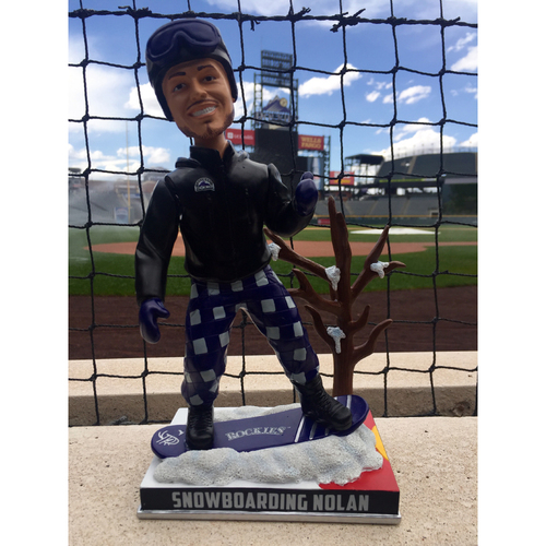 Photo of Nolan Arenado Colorado Life Style Bobblehead - Snow Boarding