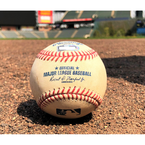 Photo of Colorado Rockies Game-Used Baseball - Marquez v. Castellanos - Double - 8-29-17