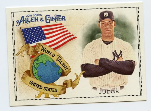 Photo of 2018 Topps Allen and Ginter World Talent #WT46 Aaron Judge