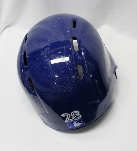 Photo of Authenticated Game Used Helmet - #28 Billy McKinney (Aug 25, 2018: 1-for-5 with 1 HR, 1 Run, and 2 RBIs). Size 7 1/2.