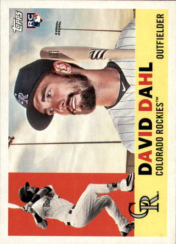 Photo of 2017 Topps Archives #25A David Dahl Rookie Card
