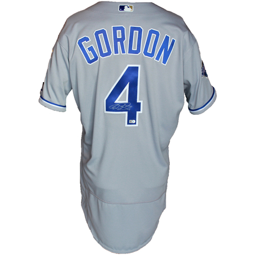 Photo of Autographed Gray World Series Jersey: Alex Gordon