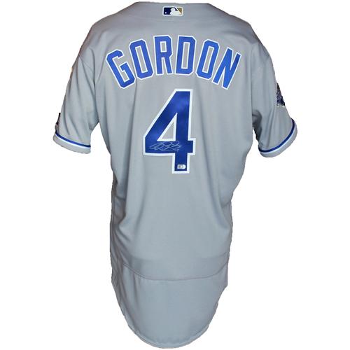 Photo of Autographed Gray World Series Jersey: Alex Gordon