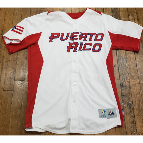 Photo of 2013 World Baseball Classic Game Used Jersey - Tony Valentin - Size 44 (Puerto Rico)