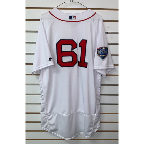 Photo of Brian Johnson Team Issued 2018 World Series Home Jersey