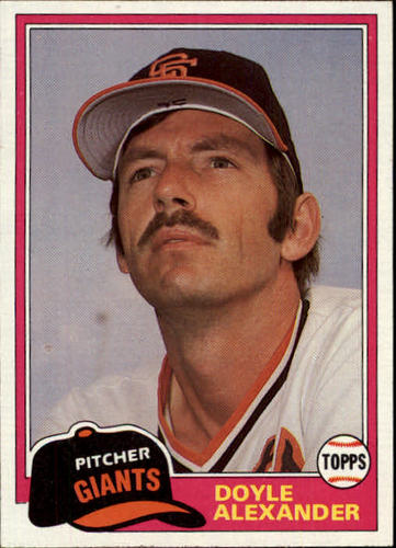 Photo of 1981 Topps Traded #728 Doyle Alexander