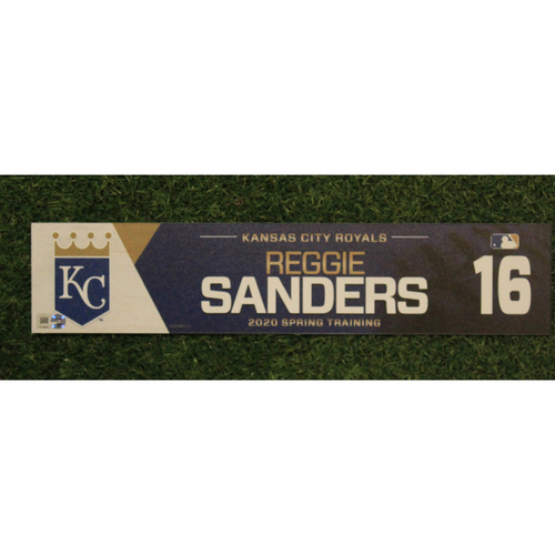 Photo of Game-Used Spring Training Locker Tag: Reggie Sanders #16