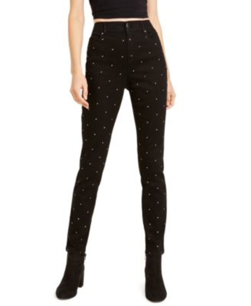 Photo of Bar Iii Studded Skinny Ankle Pants, Created For Macy's