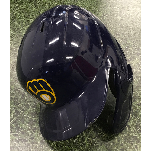 Photo of Jacob Nottingham 09/18/20 Game-Used Batting Helmet - 4th Inning, Go-Ahead Grand Slam (1st Career Grand Slam)