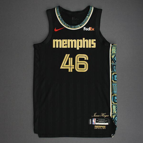 Image of John Konchar - Memphis Grizzlies - Game-Worn City Edition Jersey - Dressed, Did Not Play (DNP) - 2021 NBA Playoffs
