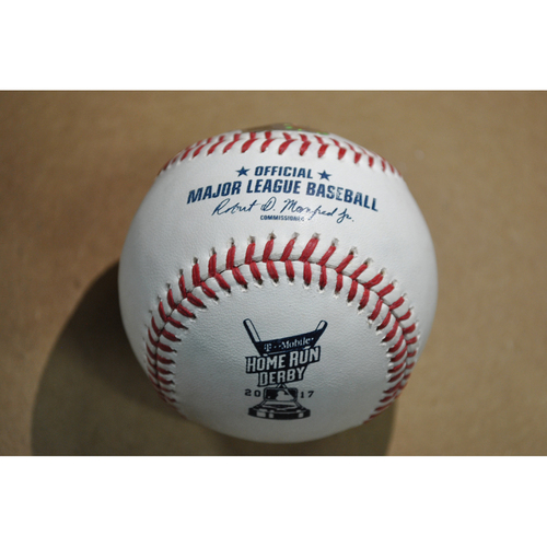 Game-Used Baseball - 2017 Home Run Derby (7/10/2017) - Giancarlo Stanton - Round 1, Out