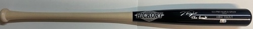 """Photo of Mike Trout Autographed """"The Goat"""" Old Hickory Game Model Bat"""