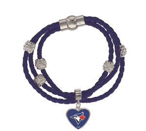 Toronto Blue Jays Colour Braided Bracelet by Aminco