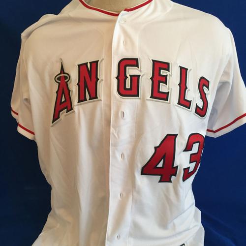 UMPS CARE AUCTION: Garrett Richards Signed Angels Jersey Size 48