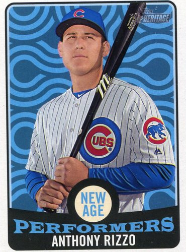 Photo of 2017 Topps Heritage New Age Performers #NAP13 Anthony Rizzo