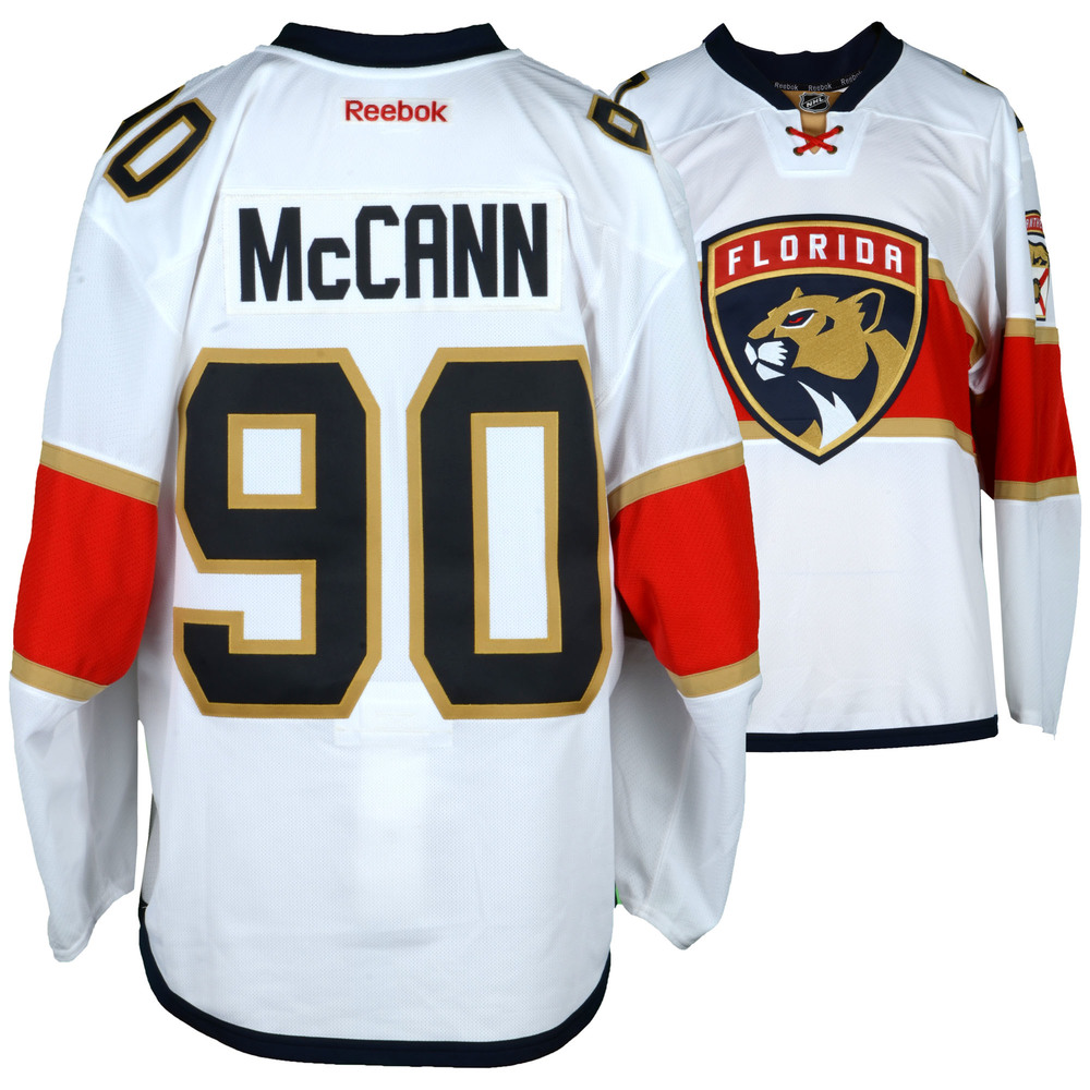 Jared Mccann Florida Panthers Game-Used #90 White Set 2 Jersey From The 2016-17 NHL Season - Size 56