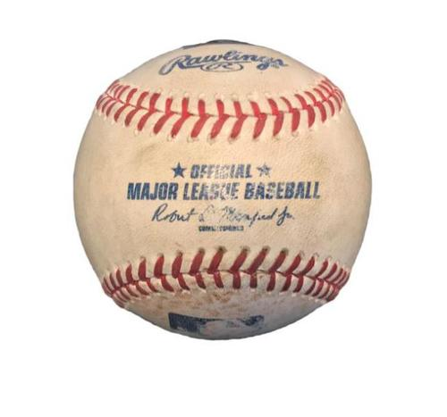 Photo of Game-Used Baseball from Pirates vs. Cubs on 8/5/15 - Starlin Castro Single