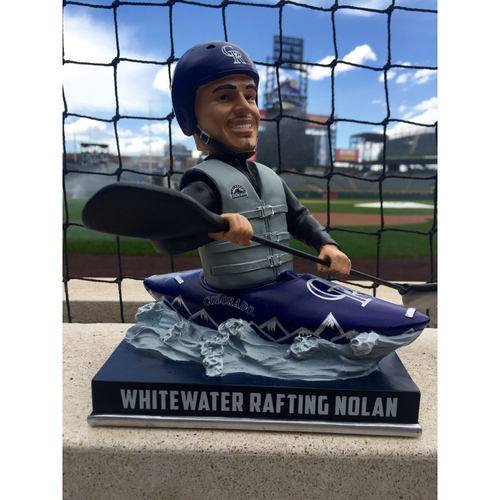 Photo of Nolan Arenado Colorado Life Style Bobblehead - Whitewater Rafting