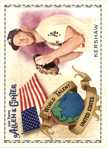 Photo of 2018 Topps Allen and Ginter World Talent #WT48 Clayton Kershaw
