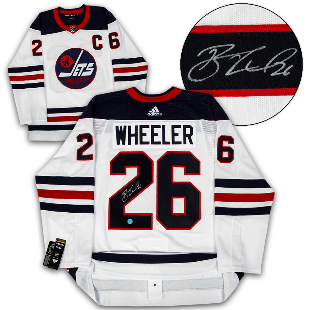 Blake Wheeler Winnipeg Jets Autographed Heritage Adidas Authentic Hockey Jersey